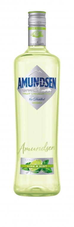 Amundsen vodka  lime & mint 15% 1l