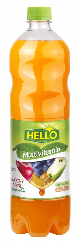 Hello drink multivitamín 1l PET (8)