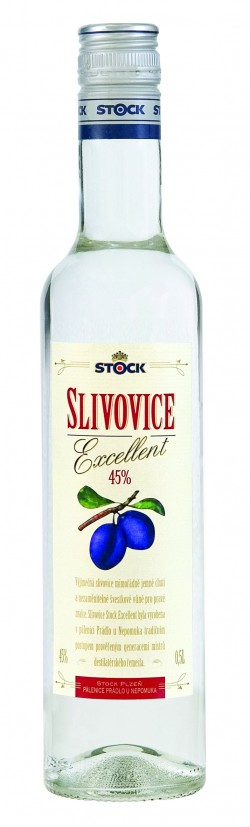 Slivovice Stock Excellent 45% 0,5l /Stock/ (15)