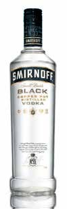 Smirnoff vodka Black 40% 0,7l