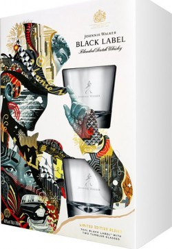 Johnnie Walker Black 12 let 40% 0,7l + 2ks klo